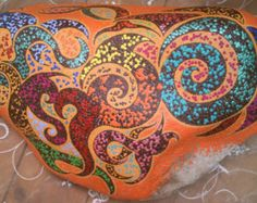 Dot painting stone ESTRALLA DE MAR of by AnkesSteinemalerei