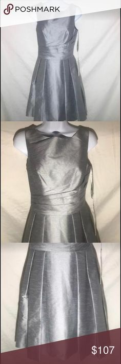 Gather & Gown Women's Dress, Size 4,Platinum From Designer David Tutera NWT Gather & Gown Women's Formal Dress  Size: 4 Color: Platinum (gray), 030 Style: Malvern Material: satin PO: 126156 UPC: 841086128260 Length: approximately 29 inches from under arm hem to bottom hem All Gather & Gown dresses already listed 35% below current retail value and listed prices on Gather & gown website and stores � gather & gown Dresses Midi
