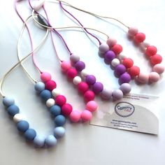 $9.95 Sensory necklaces for girls, safe beaded necklaces and non toxic play jewelry!