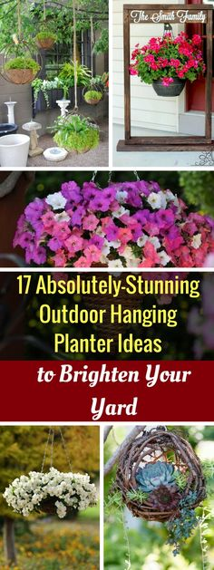 17 Absolutely-Stunning Outdoor Hanging Planter Ideas to Brighten Your Yard