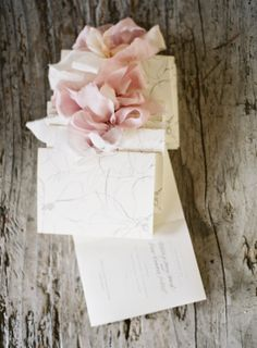Another shot of our delicate watercolor wedding programs by Gather and Co. Featured on stylemepretty.com // Photography: Jose Villa // Styling: Flowerwild // Calligraphy: Feast Fine Art  Calligraphy // Ribbon: Frou Frou Chic #wedding #programs #gatherandco