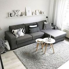 38 Stunning Scandinavian Living Room Design Ideas Nordic Style - Popy Home Tiny Living Rooms, Living Room Modern, Living Room Interior, Home Living Room, Living Room Decor, Cozy Living, Nordic Living Room, Apartment Living, Small Living Room Designs