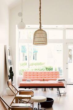 Style Atylia.com Salon Design Canapé Rose Saumon