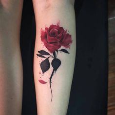 Image about art in tatoo 😻👅 by Anaîs Henrondale Flower Tattoos, Leaf Tattoos, Body Art Tattoos, Small Tattoos, Tatoos, Tattoo Ink, Rose Stem Tattoo, Tatoo Rose, Tatuajes Tattoos