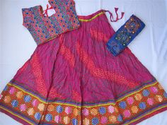 Navratri chaniya choli Pink colour with embroidery by mfussion