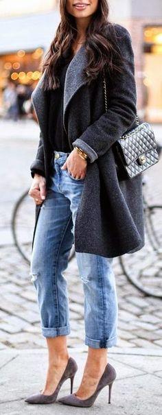 Gray Cozy Coat