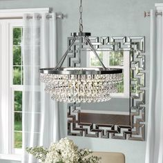 House of Hampton Zonia 29 - Light Unique / Statement Tiered Chandelier Chandelier For Sale, Rectangle Chandelier, Chandelier Lighting, Park Lighting, Bathroom Chandelier, Crystal Chandeliers, Luxury Lighting, Ceiling Fan With Remote, Oval Table