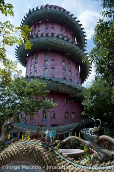 The Dragon Building in Wat Samphran, Thailand