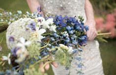 Wild flowers wedding bouquet.
