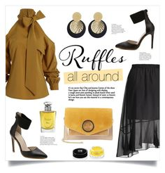 """""""Ruffles All Around"""" by mahafromkailash ❤ liked on Polyvore featuring Halston Heritage, Christian Dior and Givenchy"""