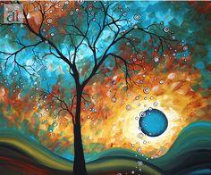Aqua Burn by Megan Aroon Duncanson -- MADART Painting at ArtistRising.com