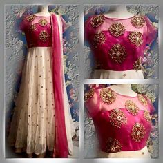 Here is very beautiful customized anaraklis with different designs . These salwars are gorgeous floor length anarkali wi...