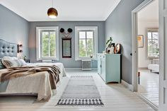 Stort och luftigt sovrum, bedroom scadinavian style