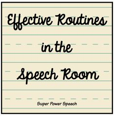 I've had a desire for several years to make my 30 minute therapy sessions more routine oriented. I want students to know what to expect when they get to speech. I want them to start working a…