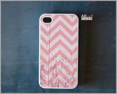 iPhone case: 1980 vintage orange pink chevron by aboutcase $14.99