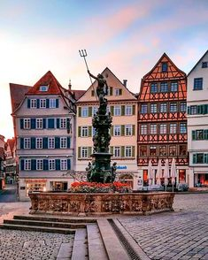 8 Beautiful Fairy Tale Towns In Germany You Have To See! Little-know hidden towns germany that belong in a fairy tale towns germany. The best towns in western germany! Some of the most beautiful towns close to Munich! Best Cities In Germany, Germany Travel, Great Places, Beautiful Places, Colourful Buildings, Scottish Castles, Voyage Europe, Medieval Town, Romanesque
