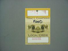Tracy Chapman satin cloth backstage pass Local Crew !