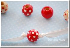 DIY ribbon and bead necklace 4 wm