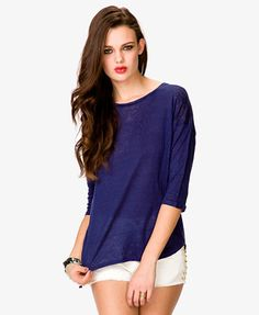 High-Low Linen Top | FOREVER 21 - 2042394222