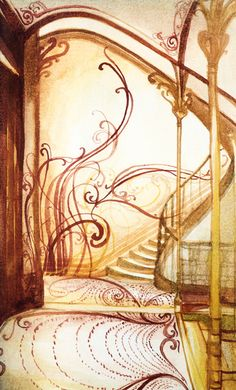 Victor Horta's amazing staircase of my dreams!!!