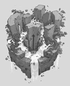 View an image titled 'Keyhole Gate Art' in our Darksiders Genesis art gallery featuring official character designs, concept art, and promo pictures. Environment Painting, Environment Concept Art, Environment Design, Game Environment, Concept Art Tutorial, Game Concept Art, Landscape Concept, Fantasy Landscape, Dark Siders