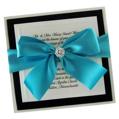 VESNA wedding & event weddings in Poland www.VESNA.pl  Tiffany blue wedding  Boxed Wedding Invitation  Turquoise Invitation   by JustEmbossed, $623.00