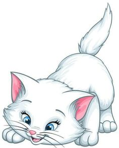 White Kittens Cartoon Cats And Kittens Rice&Caricature Cartoon Sketches, Art Drawings Sketches, Disney Drawings, Cartoon Art, Animal Drawings, Easy Drawings, Cute Cartoon Images, White Kittens, Cats And Kittens
