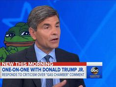 George Stephanopoulos Thinks A Green Frog Named Pepe Is The Symbol Of The the White Supremacist Movement