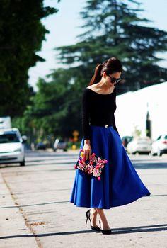 blue midi skirt - Buscar con Google