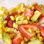 Strawberry, Roasted Corn and Avocado Salsa