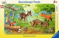 Ravensburger puzzle frame - animal babies of the forest (15 τεμ.)