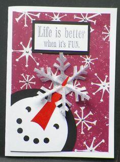 Handmade Snowman Card
