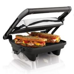 Make your own restaurant-style Panini's with the Panini Press Gourmet Sandwich Maker. It will grill sandwiches of any almost any thickness. And when you're done, it stores upright saving cabinet space. #myrrhshop #onlineshoppingnetwork #onlineshopping #onlineshop #specialty #buykitchenappliances #buyhomeappliances #smallappliances http://homeappliances.myrrhshop.com/product/hamilton-beach-25460a-panini-press-gourmet-sandwich-maker/