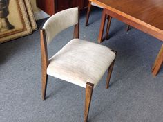 Teak Dining Table & 6 Chairs - Great design – mid century one of a kind. Includes 6 chairs. Table dimensions 84 inches by 43.   Item 779-1. Price $610.00.    - http://takeitorleaveit.co/2015/04/27/teak-dining-table-6-chairs/