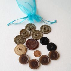13 Assorted Large Buttons  Pearlescent Effect by GrannieBunting, £4.50