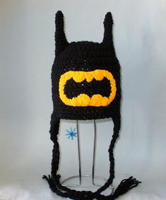 Crochet Pattern PDF Batman Hat. Beanie and by FunyCreation on Etsy