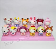 Hello KT Play Animal Action Figures Cake Decorating Kitty Figures Set of 12pcs   eBay