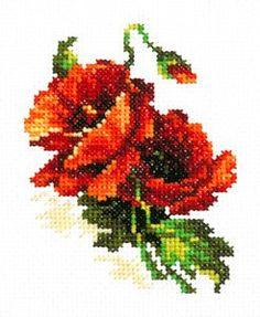 """Набор для вышивания арт.ЧИ-28-01   """"Красный мак"""" 8х11 см"""