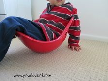 Bilibo ... a great toy for vestibular input. Spin round and round.
