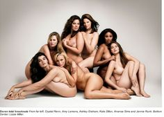 plus size models... they just look healthy to me!