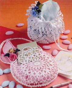 Crochet bag - embrodery and cross stitch Crochet Home, Crochet Gifts, Crochet For Kids, Crochet Baby, Knit Crochet, Crochet Cross, Crochet Coin Purse, Crochet Purses, Crochet Doilies