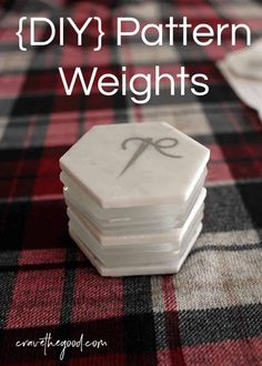 DIY pattern weights for sewing Sewing Hacks, Sewing Tutorials, Sewing Crafts, Sewing Tips, Sewing Ideas, Diy Crafts, Dress Tutorials, Fat Quarter Projects, Pattern Weights