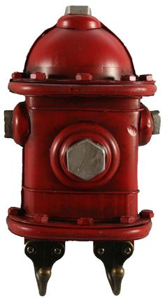 6018 Tin Fire Hydrant Key Hook Chicago Fire Department and Chicago Police Department gifts.