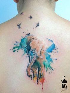 Rodrigo Tas: Watercolor elephant