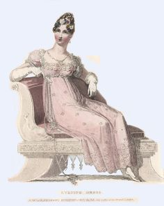 Ackermann's Regency Fashion Plates, Scans from original Plates Evening Gown
