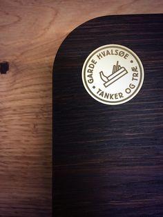 Beautiful brass inlay in wenge chopping board by Danish carpentry masters Garde Hvalsøe