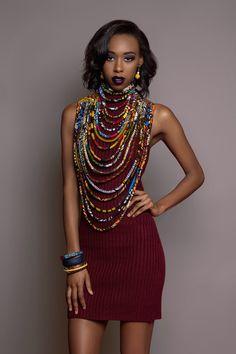 African Print Ankara Necklace  The Legend