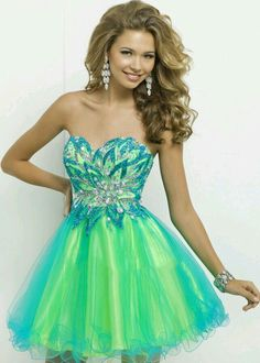 Sea green blue #mermaid #prom #homecoming