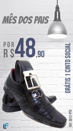 2428bd4b34 Os Sapatos Sociais Masculinos exclusivos da La Faire Calçados são  fabricados em material de sintético de