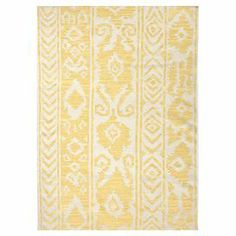 Transform your den, dining room, or master suite into a bohemian retreat with this beautiful rug, showcasing an exotic-inspired motif and artfully crafted detail.      Product: RugConstruction Material: 100% WoolColor: YellowFeatures:  ReversibleDurableEasy care Note: Please be aware that actual colors may vary from those shown on your screen. Accent rugs may also not show the entire pattern that the corresponding area rugs have.Cleaning and Care: Vacuum regularly. Blot spills immediately…